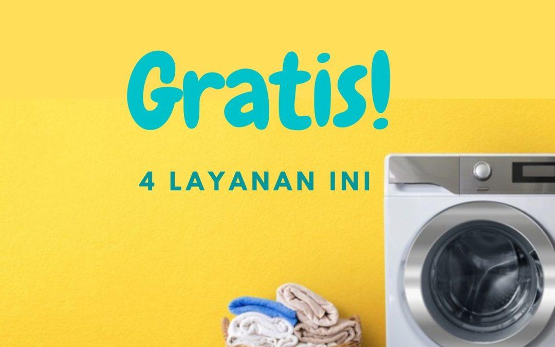 Pakai Saku Laundry Gratis 4 Layanan Ini!