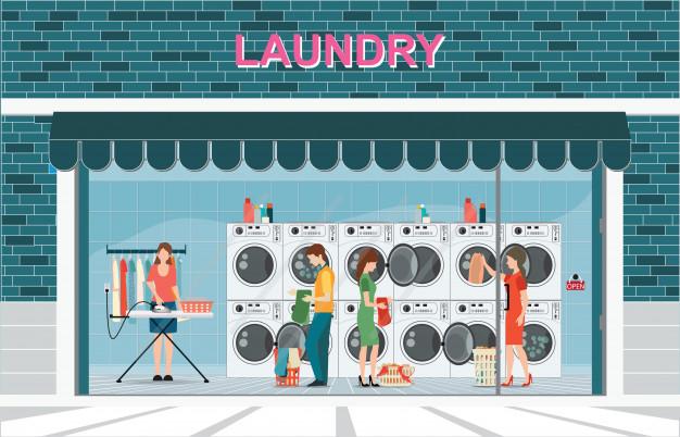 menggunakan laundry kiloan